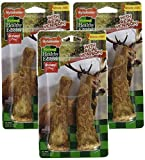 (3 Pack) Nylabone Healthy Edibles Edible Antler Real Venison Dog Treats, 2 Treats Each For Sale