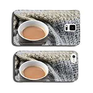 hot chocolate with knitted scarf in the winter cell phone cover case iPhone6 Plus