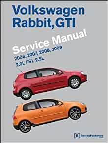 Volkswagen Rabbit, GTI (A5) Service Manual: 2006, 2007, 2008, 2009: Bentley  Publishers: 9780837616643: Amazon.com: Books | 2007 Volkswagen Rabbit Engine Diagram |  | Amazon.com