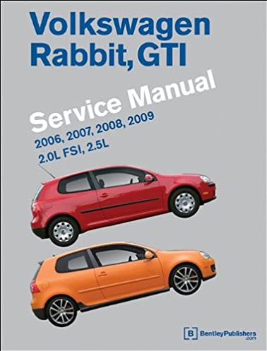 volkswagen rabbit gti a5 service manual 2006 2007 2008 2009 rh amazon com vw golf gti mk5 workshop manual VW Golf MK4 GTI