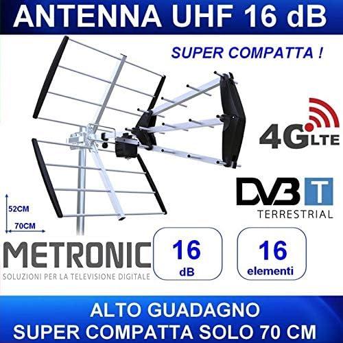 Metronic 415048 Antena de Exterior UHF trinappe compacta ...