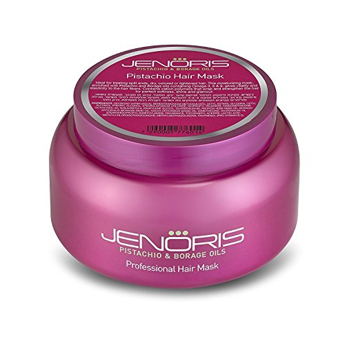 Jenoris Pistachio Hair Mask 16.9 fl.oz/500 ml Deeply nourishing treatment repairs and prevents damage. For dry, colored, lightened hair or any post chemical treatment. Infused with Pistachio Oil (Nourishing Hair Remover)