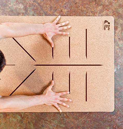 Luxury Cork Yoga Mat – Non Slip, Soft, Sweat Resistant. Thicker, Longer, and Wider For More Comfort and Support. Tough Enough For Hot Yoga. Optional Built-in Pose Alignment Lines 80 x 26 x 6.5mm