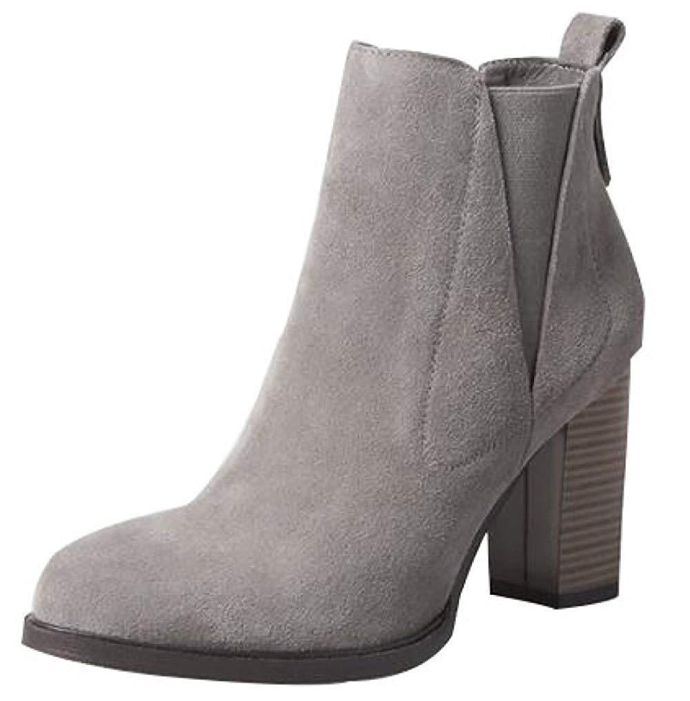 Qiusa Frauen Frühling Herbst Winter High Heels Matt Stiefeletten Warme Schuhe (Farbe   12 Größe   34EU)