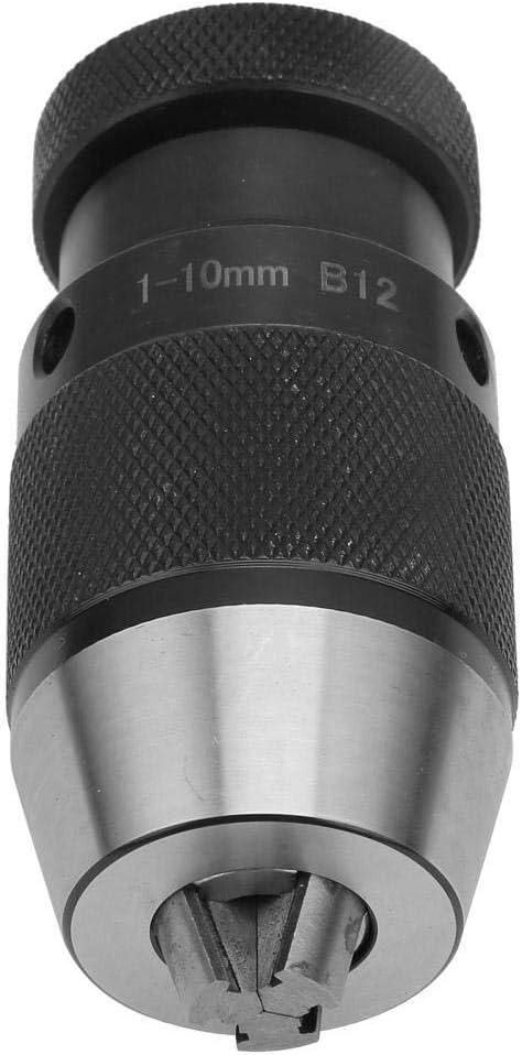 B12 1-10mm CHUNSHENN Drill Chuck Adapter Converter Carbon Steel Keyless Drill Chuck Self Tighten Drill Chuck 1~10mm//5~20mm Cutting Tools
