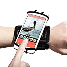 Universal 180 ° Rotation Cell Phone Wristband Holder - Fits 4 to 5.5 inch Devices - Running Workout Phone Holder for Android & iPhone 7/7 Plus/6/6 Plus/5/ Samsung S7/S6/Note5
