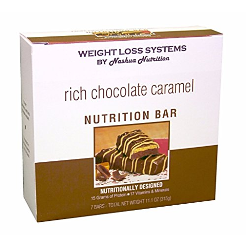 Weight Loss Systems Protein Bar - Rich Chocolate Caramel - Gluten Free - 7/Box by Weight Loss Systems