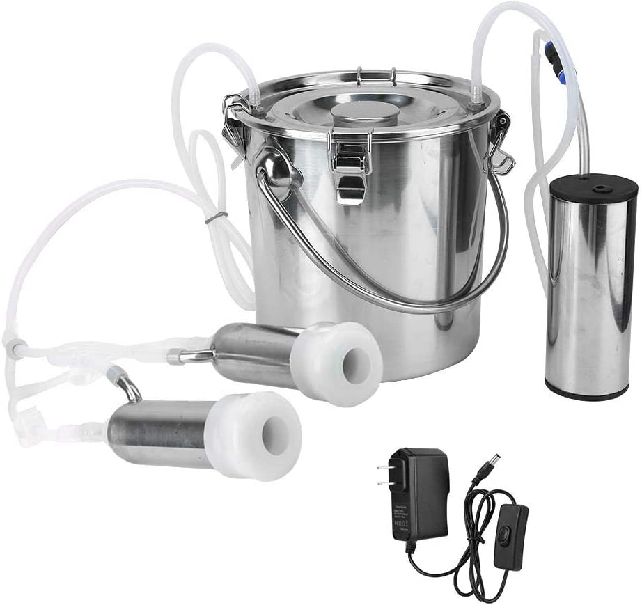 HEEPDD 5L Ranking TOP19 Electric Milking Machine Kit Minitype Long Beach Mall Stainl Portable