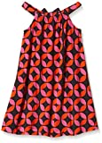 Hatley Little Girls Lifesaver Shirred Dress, Orange, 2