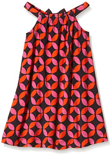 Hatley Little Girls Lifesaver Shirred Dress, Orange, 2 by Hatley