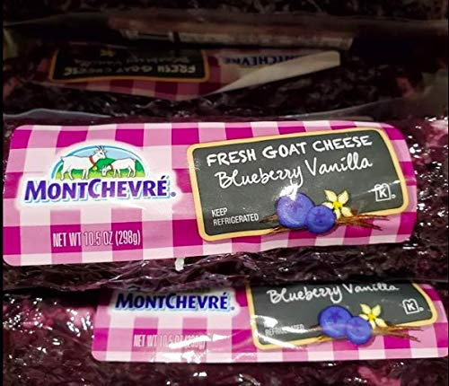 2 pack of 10.5 oz Montchevre Fresh Goat Cheese with Blueberry Vanilla -Kosher - Total 21oz