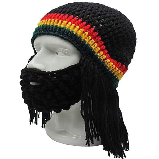 e1e01db22bef7 Amazon.com  Knitted Long Braid Hat African Dreadlocks Cap Beanie ...