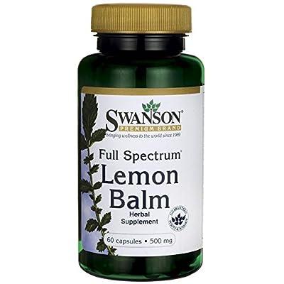 Swanson Full Spectrum Lemon Balm 500 Milligrams 60 Capsules by Swanson Premium