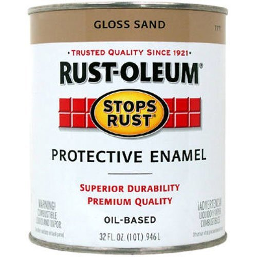 Interior Gloss Varnish (Rust-Oleum 7771730 1/2-Pint 8-Ounce Protective Enamel, Gloss Sand)