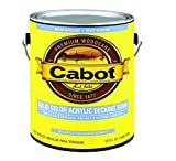 Cabot 140-1808 GL 1 Gallon Medium Base Solid Color Decking Stain