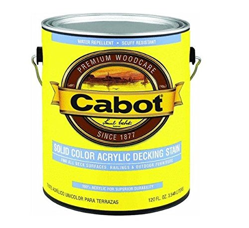 Cabot 140-1808 GL 1 Gallon Medium Base Solid Color Decking Stain Cabot Deck Stain Colors