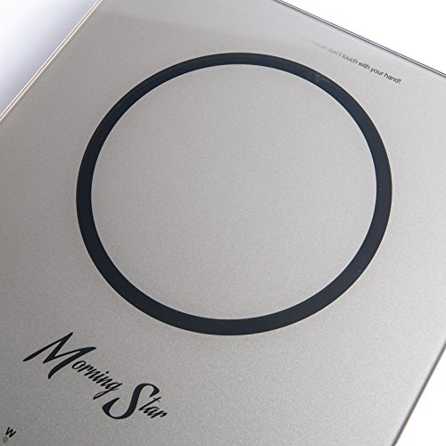 Morning Star MS-151 Induction Cooktop, Portable Countertop Burner, Ultra-Thin Design, Rapid Heat Technology, Auto-Pan Detection, Sleek Metallic Silver Color by Morning Star (Image #2)