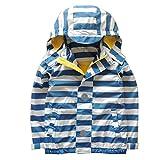 Hiheart Boys Girls Softshell Windbreaker Hooded Jackets