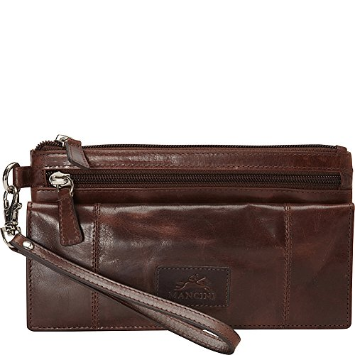 mancini-leather-goods-casablanca-collection-ladies-large-rfid-wristlet-brown