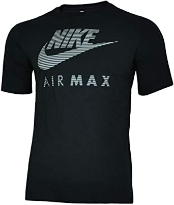 b8967fe7 Nike Air Max Mens Black Reflective Athletic Cut T Shirt: Amazon.co.uk:  Clothing