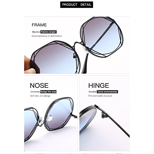 Estados Redondas Moda De Europa Metal Gafas Trend Sol Pink De Sol Gafas Unidos De De Blue Y Gafas qU8YP