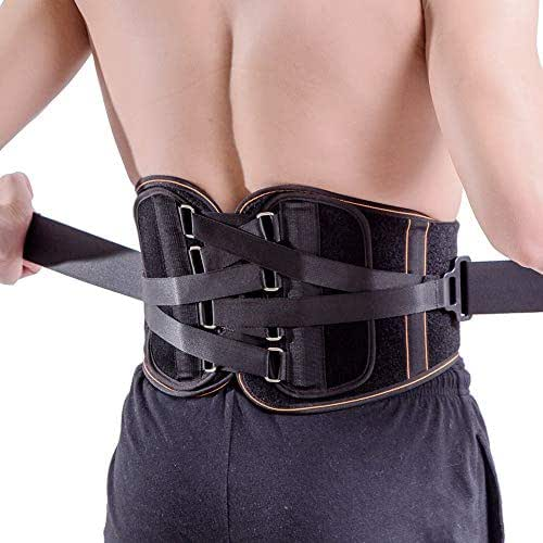 King of Kings Lower Back Brace Pain Relief with Pulley System - Lumbar Support Belt for Women and Men - Adjustable Waist Straps for Sciatica, Spinal Stenosis, Scoliosis or Herniated Disc - Large