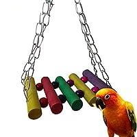 Vktech 5pcs Pet Bird Parrot Periquito Budgie Cockatiel Jaula Hamaca Columpio Juguete colgante (Estilo A)