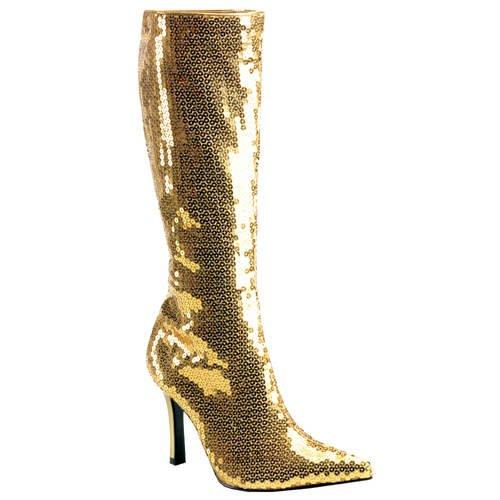 Stiefel 36 Pailletten 6 gold mit Größe qxwOpz18