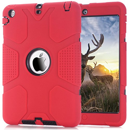 iPad Mini Case, iPad Mini 2 Case,iPad Mini 3 Case, Hocase Robot Series High Impact Resistant Shockproof Case for iPad Mini 1 / 2 / 3 - Red / Black (Robot Ipad Mini Case compare prices)