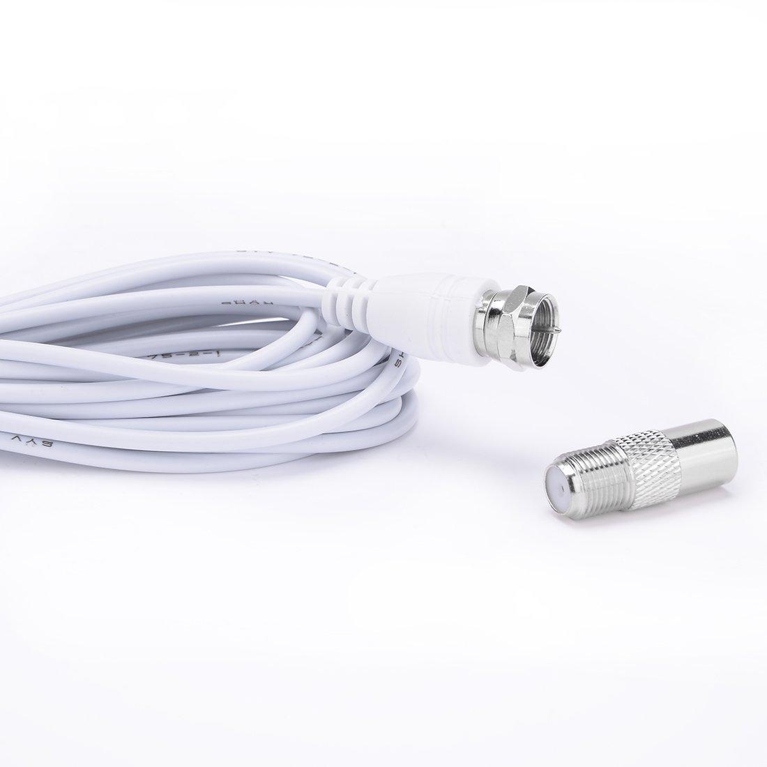 Amazon.com: eDealMax 25 millas de alcance Antena HDTV Digital Con cubierta DE 16 pies de Largo por Cable: Electronics