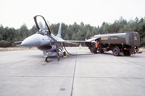 Home Comforts A tanker truck is used to refuel an F-16 Fighting Falcon aircraft during Exercise Coronet Gauntlet ' by Home Comforts