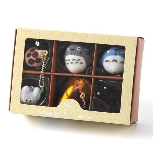 Studio Ghibli My Neighbor Totoro 6 characters Totoro keychain set