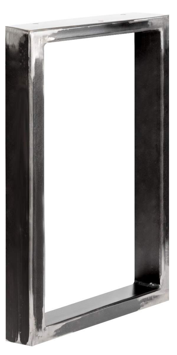 HOLZBRINK Patas de Mesa perfiles de acero 60x20 mm Gris Antracita HLT-01-E-II-7016 forma de marco 100x72 cm 1 Pieza
