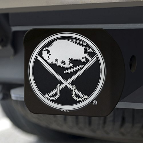 FANMATS 20992 NHL - Buffalo Sabres Black Hitch Cover, Team Color, 3.4