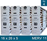 Lennox X0584 MERV 11 Filter - 16'' x 26'' x 5'' - Genuine Lennox Product PACK OF 4 FILTERS