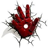 Luminária Mão do Homem de Ferro 3d Light Fx Vermelha