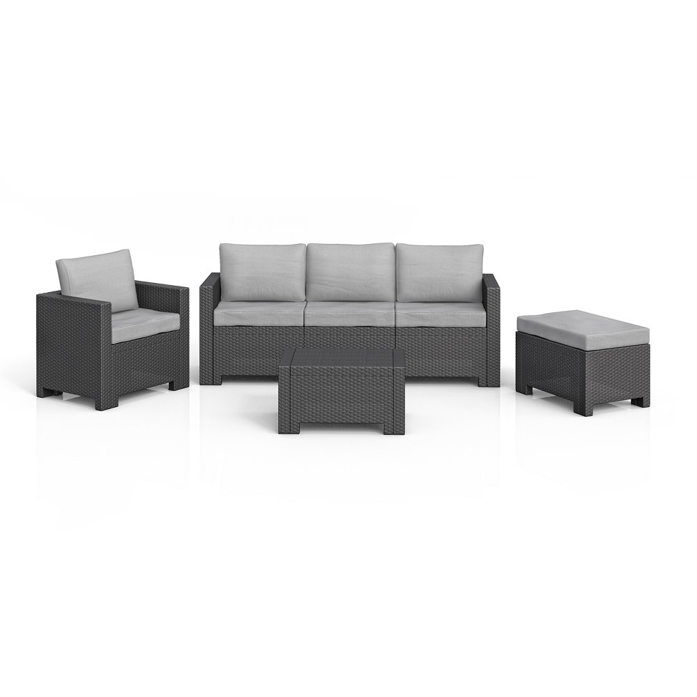 bica colorado lounge set poly rattan gartenm bel rattanoptik sitzgruppe anthrazit inkl auflagen. Black Bedroom Furniture Sets. Home Design Ideas