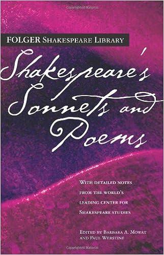 Amazon com: Shakespeare's Sonnets & Poems (Folger Shakespeare
