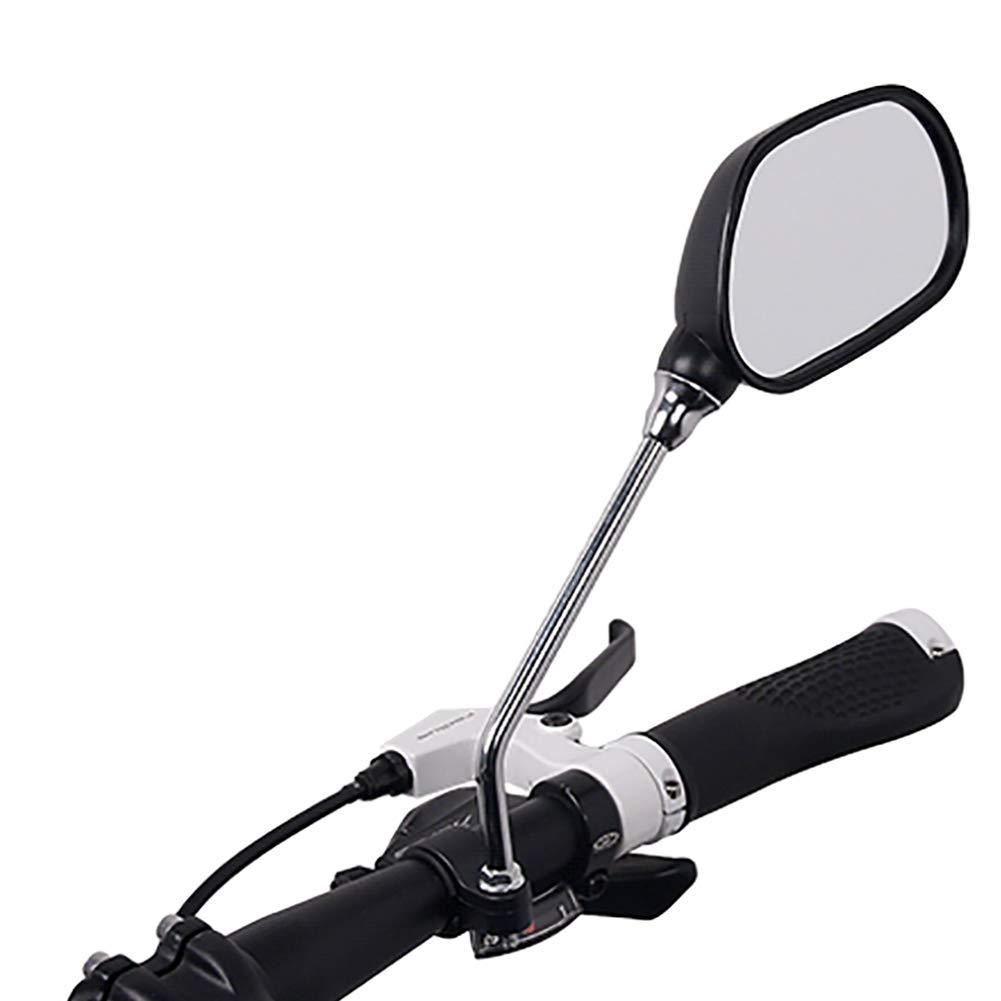 1 Pair Bicycle Rear View Mirror Bike M6 Handlebar Wide Range Back Sight USA