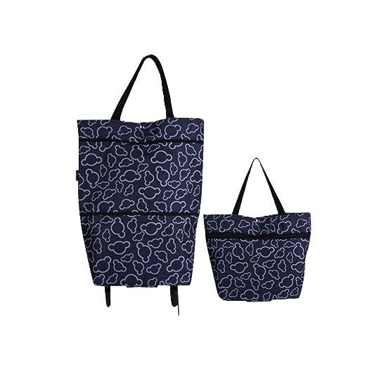 Whchiy - Bolsas reutilizables para comestibles con ruedas de ...