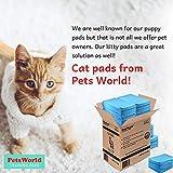 PETSWORLD Cat Pads Generic Refill for Breeze Tidy Cat Litter System (50 Pads)