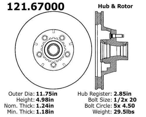 Centric Parts 121.67000 C-Tek Standard Brake Rotor