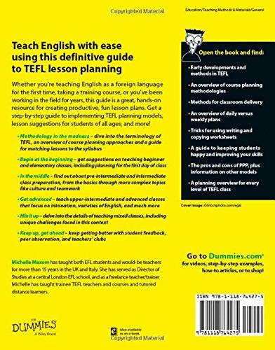 TEFL Lesson Plans For Dummies: Amazon co uk: Michelle M