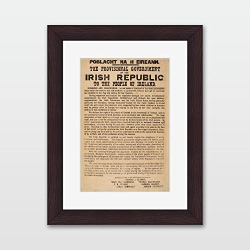 1916 Irish Proclamation - Framed Print ()