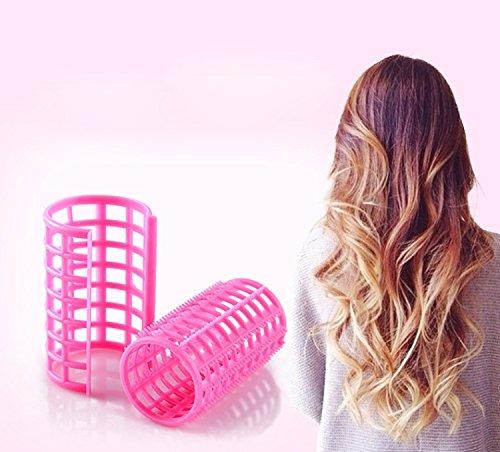 ZJchao rizador de cabello, Magic pelo rodillo rizadores para el cabello sin calor de silicona no Clip suave cuidado del cabello DIY Hair Styling Tools.