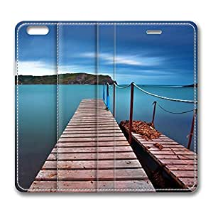 iPhone 6 4.7inch Leather Case, Dock Personalized Protective Slim Fit Skin Cover For Iphone 6 [Stand Feature] Flip Case Cover for New iPhone 6