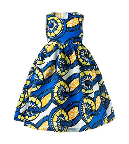 African Print Baby Dress, Ankara Baby Dress, African Baby Clothes, African Children Dress, Ankara Kids (Blue, S)