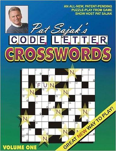 Pat Sajak's Code Letter Crosswords: Pat Sajak: 9781572439238