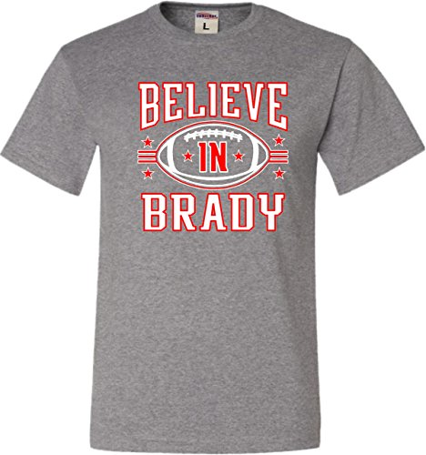 Large Oxford Adult Believe in Brady Football T-Shirt