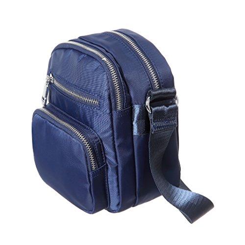 MINICAT in multi Borsa Blu tracolla per nylon piccola le donne a tasche Borsa tXRR0Zxwq1